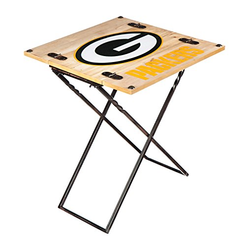 Team Sports America NFL Folding Armchair Table Green Bay Packers ()