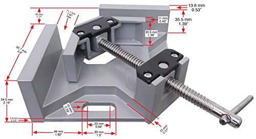 Tech Corner Clamp, Right Angle, 90 Degree, Adjustable Vise, Perfect for Woodworking, Cabinet Framing, Picture Frame, Aquarium, Workshop by Tech (Image #1)