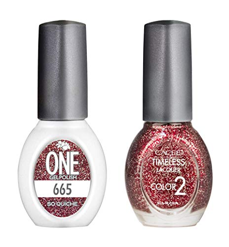 - Premium Nail Polish & Gel Polish Color Polish Set, Long Lasting Formula, 0.5 oz Each By Cacee (ONE Gel & Timeless), 178 Choices of Color, Set of 2, UV/LED Compatible (#665 So Quiche)