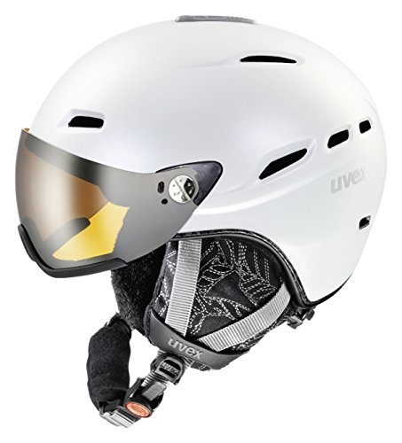 UVEX Damen Skihelm hlmt 200 WL, White Pearlescent, 55-58 cm, S5661831005