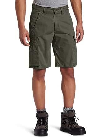 """Carhartt Men's 11"""" Cotton Ripstop Cargo Work Short,Moss,28"""