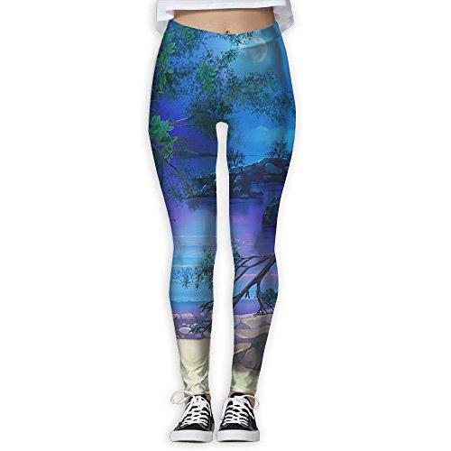 Womens Slim Silent River Sleek-Fit Yoga Jogger Pants Sweatpants