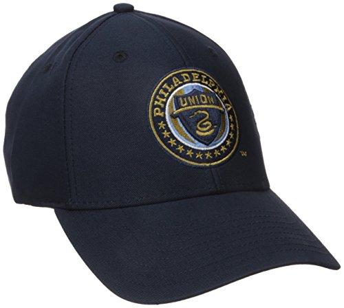 MLS Philadelphia Union Men's Basic Structured Adjustable Cap, One Size, Navy