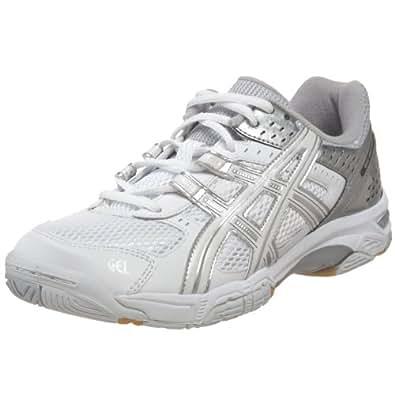 ASICS Women's GEL-Rocket 5 Volleyball Shoe,White/Silver/,6.5 M US