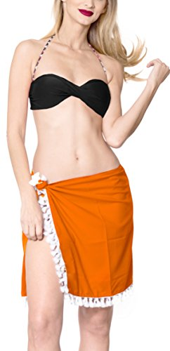 corto donne da costume delle up pareo da spiaggia usura pannello cover b370 bagno bagno del dell'involucro LA Arancione esterno costume LEELA 0AwqPP