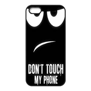 Personalized Don't touch my phone Phone Case, Customized Hard Back Case Cover for iPhone 5/5G/5S Don't touch my phone