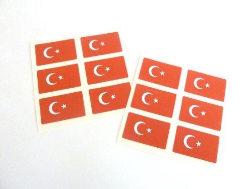 (Minilabel Mini Sticker Pack, 33X20mm Rectangle, Self-Stick Turkey Labels, Turkish Flag Stickers)