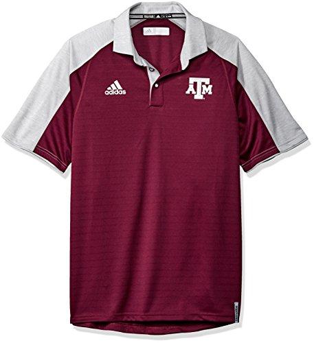 NCAA Texas A&M Aggies Men's Sideline Polo, Medium, Maroon (Shirt Sideline Polo Adidas)