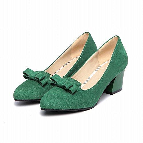 Vert Ladies Chaussures Escarpins Supérieure Bloc Talon Mee Incline Sexy 5518BnY