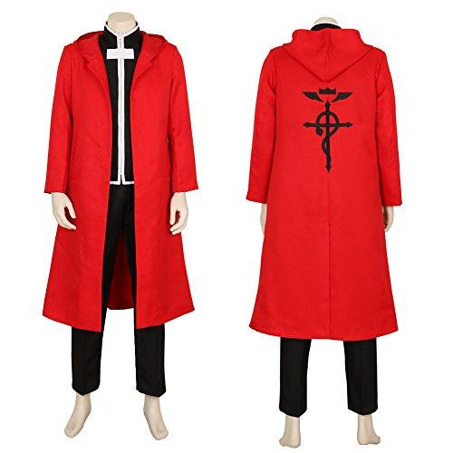 CG Costume Men's FullMetal Alchemist Edward Elric Cosplay Costume Medium