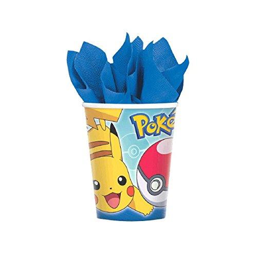 Pokemon 9oz Cups - 8 Per Pack (Pokemon 9 Ounce Cups)