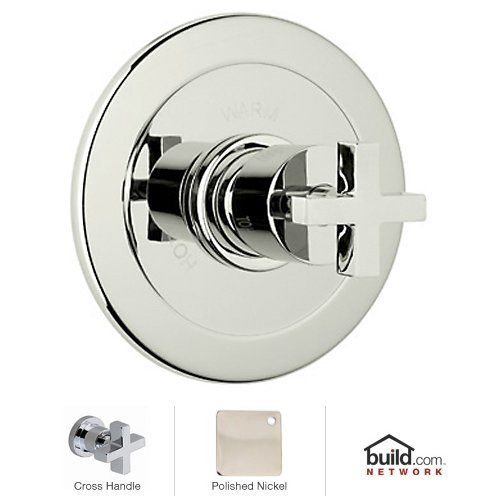 Rohl BA600X-PN Modern Bath Architectural Volume Control Pressure Balance Trim without Diverter Cross Handle