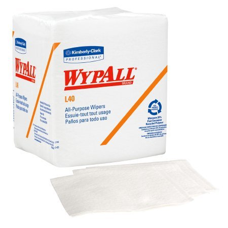 WypAll L40 Disposable Cleaning and Drying Towels (05701), Limited Use Towels, White,18 Packs per Case, 56 Sheets per Pack, 1,008 Sheets Total from Johnson & Johnson
