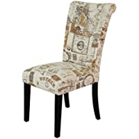 Monsoon Pacific Voyage Upholstered Dining Chairs, Brown, Set of 2