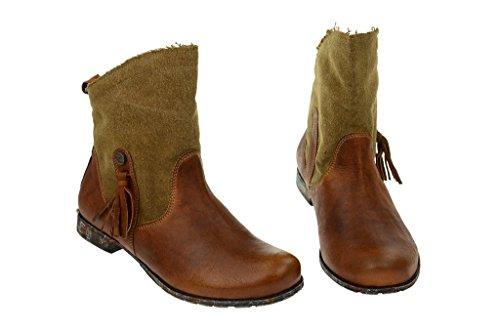 Think Denk - Botas Antideslizantes de cuero mujer marrón