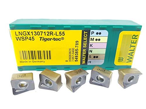 Walter LNGX 130712R-L55 Hartmetall-Einsätze, Grad WASP45, 5 Stück