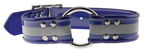 Sunglo Reflective Collar (OmniPet Sunglo Reflective Ring in Center Dog Collar, 1 x 23, Blue)