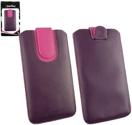 Emartbuy® Púrpura/Hot Rosa Premium Cuero PU Funda Carcasa Case ...