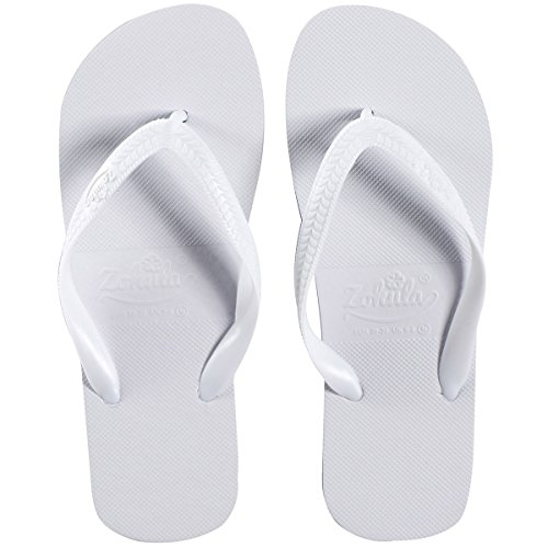 Zohula Originals Blanco Chanclas 20 pares Incluyendo Cesta - Tamaños Mixtos- 3 x 35-37, 12 x 38-39, 5 x 40-42