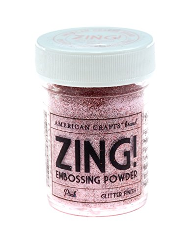Zing!Goffratura Glitter polvere 1 oncia-rosa American Crafts ZGE-27154