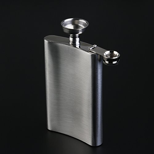 NUOLUX-Hip-Flask-10oz-Stainless-Steel-Vodka-Whisky-Hip-Flask-with-Mini-Funnel