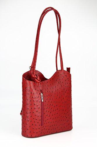 Red 28 8 E X Mano Spalla Pelle Donna A Profondità 1 larghezza Zaino nbsp;cm Da nbsp;x Bellibelli Altezza In Misure Con Per Backpack 2 RYwTZfZqg