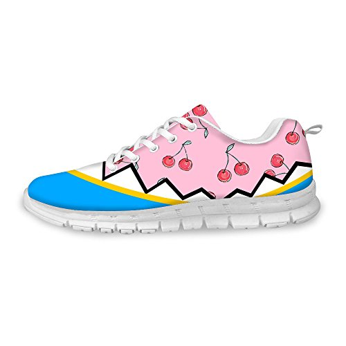 Pink Weight Shoes Fashion Blue Running FOR DESIGNS Womens Breathable Light Relax U Sneaker Mesh B7q1n7aW