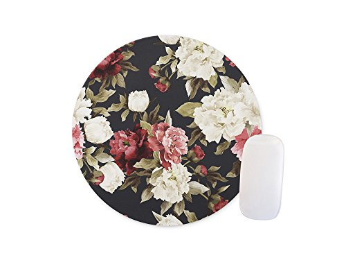 Retro flowers Round Mouse pad Customized Non Slip Rubber Round Mouse pad Non Slip Rubber Mouse pad Gaming Mouse Pad (Colormouse Pads)
