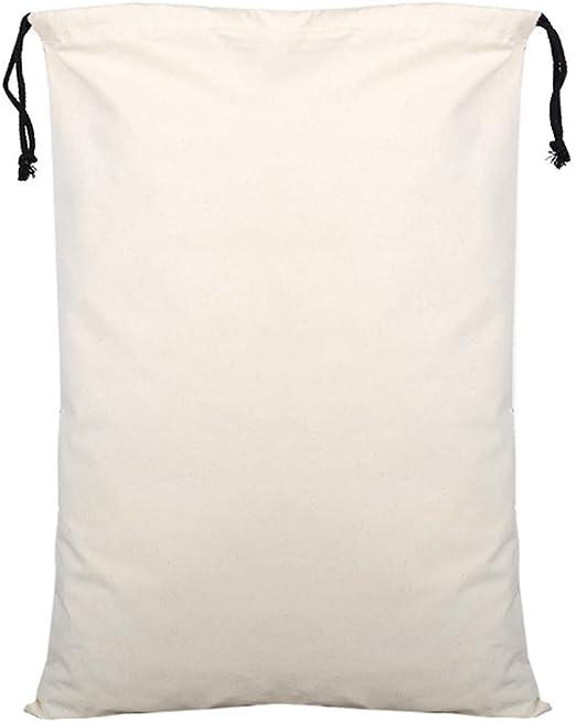CZSM Conjunto de 10 Bolsas Lona Blanca con cordón, algodón de ...