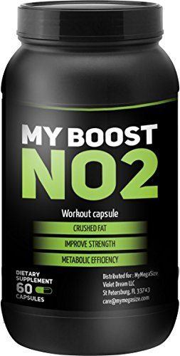 MY BOOST- NO2- Extreme Workout Capsules- Crush Fat- Improve Strength- Increase Metabolic Efficiency ()