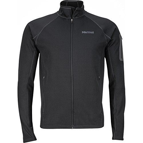 Marmot Stretch Fleece Jacket Men, 81120 (Large, Black)