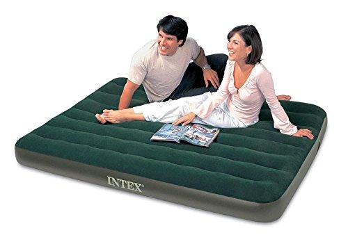 INTEX CAMP BED W/PUMP, QUEEN