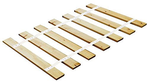 Custom Made in the U.S.A.! Youth Size Bed Slats/Platform Bed Boards-Cut to the Width of Your Choice (White (Cove Sleigh)