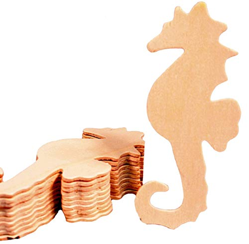 (Creative Hobbies Unfinished Wood Seahorse Cutout Shapes, 5 Inch Tall, Ready to Paint or Decorate, Pack of 12)