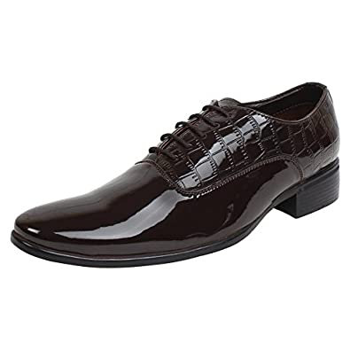 limited guantity reasonable price utterly stylish SASSIE Brown Derby/Lace up Shining Formal Shoes for Man: Buy ...