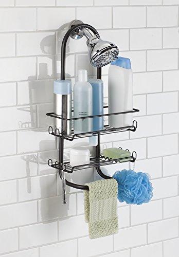 mDesign Bathroom Shower Shampoo Conditioner
