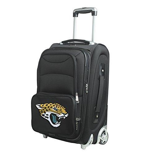 Denco NFL Jacksonville Jaguars In-Line Skate Wheel Carry-On Luggage, 21-Inch, Black