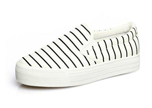 Un Corriendo Blanco de Escuela 38 XIE Cómodo Negro 36 Ocio Pedal Movimiento Señora Zapatos Zapatos Estudiantes Lona WHITE fnwqE7wF