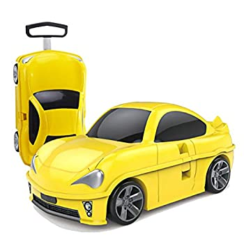Image of Premium Kids Luggage With Wheels For Girls | Carry on Luggage | Toyota Replica Rolling Suitcases For Girls Ages 3 and Up | Kids Suitcase Luggage