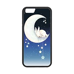"""Customized Durable Case for Iphone6 Plus 5.5"""", Moon Bunny Phone Case - HL-R687588"""