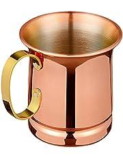 Hacbop Pure Copper Beer/Milk Mug,Handcrafted Moscow Mule Cup,Moscow Mule,Drinkware Tableware