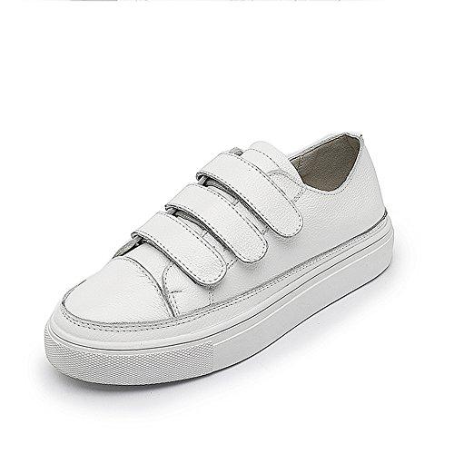 Mujer Fondo de 35 de Deportivos Cabeza Nan Grueso Verano Zapatos 39 Velcro de Redonda Plana Blancos C Zapatos 2018 Inferior Talla Zapatos zEwnwqBt