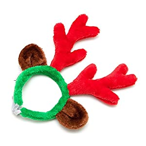 Christmas Reindeer Antlers with Ears for Large Dogs by Midlee