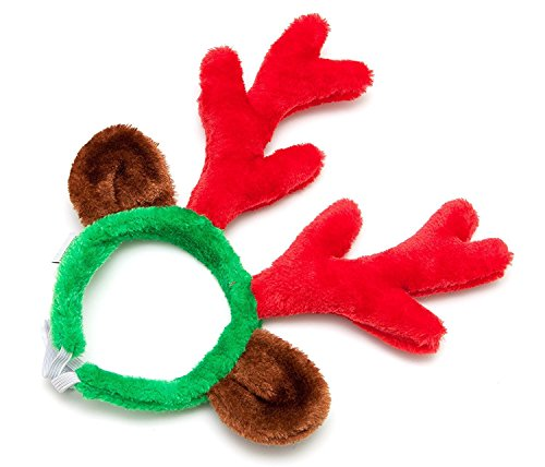 Christmas Reindeer Antlers with Ears for Large Dogs by Midlee by Midlee