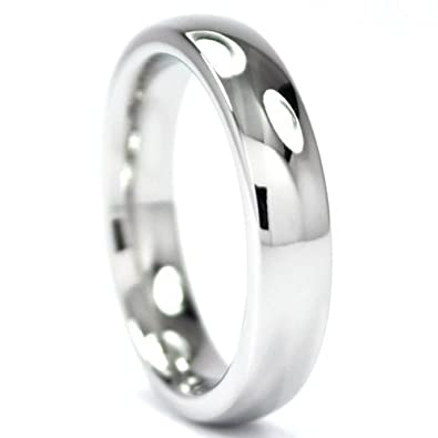 Cobalt Wedding Bands | Amazon Com Cobalt Chrome Ring Premium Mirror Finish Cobalt