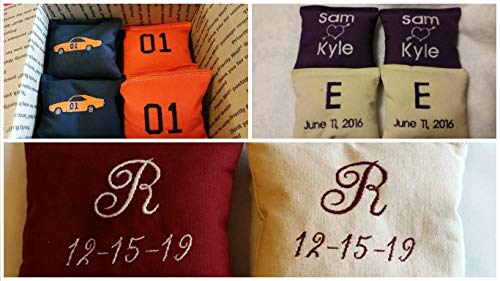 Embroidered Custom Cornhole Bags Personalized -