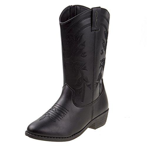 Kensie Girl Girls Western Cowboy Boot, Black, Size 1 Little Girl' from Kensie Girl