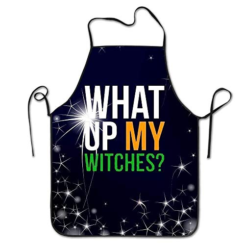 What up My Witches Kitchen Retro Apron Cooking Apron Pinafore