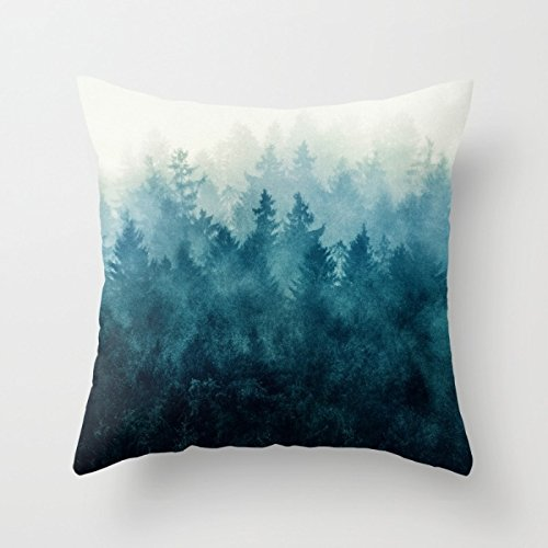 Beautifulseason Mountians Forest Pillow Covers 18 X 18 Inches / 45 By 45 Cm Gift Or Decor For Pub,him,outdoor,kids,dining Room,home Theater - Double Sides (Shark Tank Products Corduroy compare prices)