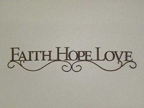 Faith Hope Love Plaques - Your Heart's Delight FAITH HOPE LOVE Decorative Wall Plaque in Weathered Distressed Finish